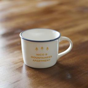 NICO&MOUNTAIN琺瑯風MUG WHITE