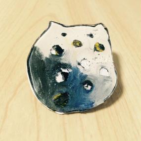 """【ONE OFF】ハンドメイドブローチ""""dot cat"""""""