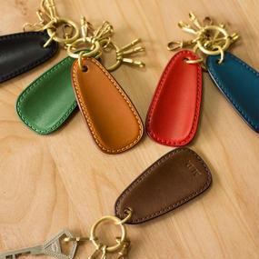 革と真鍮の靴べらキーホルダー(全6色)