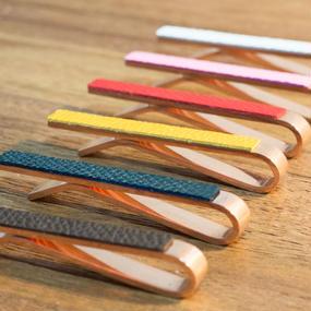 革のネクタイピン・純銅製(全6色)