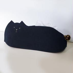 しっぽ猫のティッシュケース001号navy◎送料無料【受注生産】