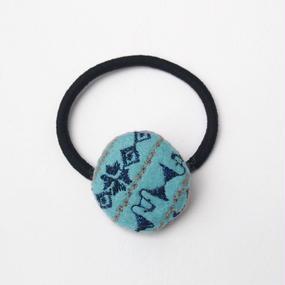刺繍模様の小さなフェルトまるヘアゴム001号(受注生産)【送料無料】