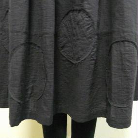 大きな水玉のギャザースカート