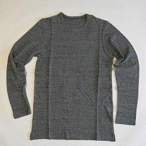 ラフィートップ杢天竺 ラウンドネック 長袖Tシャツ