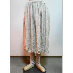 リネンダブルガーゼのバルーンスカート(ベージュ)