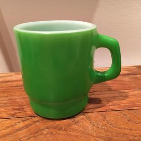 Fire King Stacking Mug  :Green