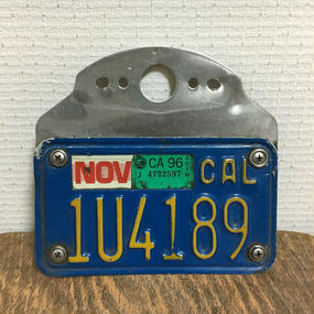 USA MOTORCYCLE LICENSE PLATE