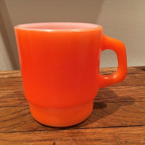 Fire King Stacking Mug :Orange