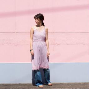 レースキャミソールワンピース(ピンク)5/1(月)発売商品
