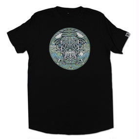 METALHEADZ X MUGA - GREEN & BLUE LONG T-SHIRT [BLACK]