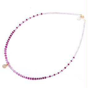 Ruby gradation necklace