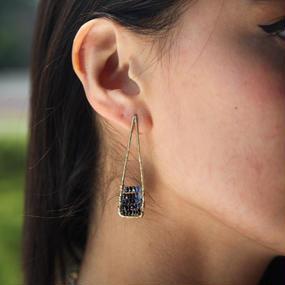 Blue sapphire acute earring