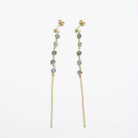 Labradorite line earring