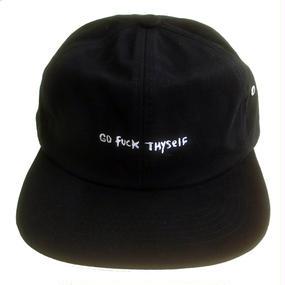 RIPNDIP /GO FUCK THYSELF SIX PANEL BLACK