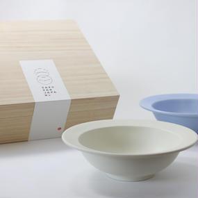 "Sara 7""Bowl ペアボウル(Fjiiro/Cream)木箱入り"