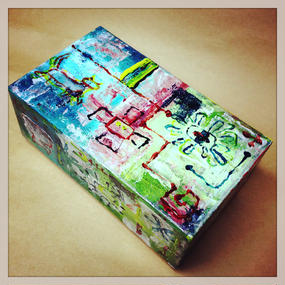 ST031ペイント&タイルボックス「tiled box」左藤芳美