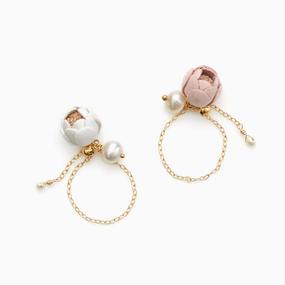 Ichirin Chain Ring / white , sakura , black