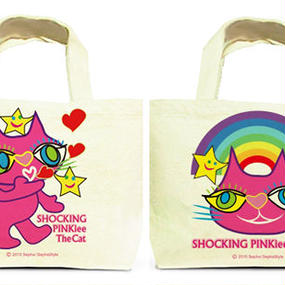 Both Faces Designed Tote Bag (L):  SPTC - Blowing Kisses from Outer Space & Rainbow Woderland