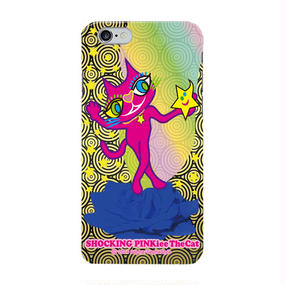 SHOCKING PINKiee the Cat Smart Phone Case For Android - Magical Blue Rose