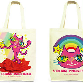 Both Faces Designed Tote Bag (M):  SPTC - Magical Red Rose & Rainbow Wonderland
