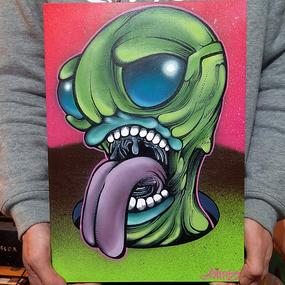 【原画】Monster Canvas 2016 : MATT GREEN SLIME