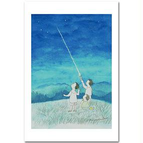 ポストカード・飯豊の空の下から・・・  「お空眺め」