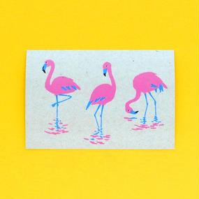 レトロポストカード/フラミンゴ