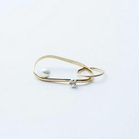 Wave ring (Pearl + Bijou)