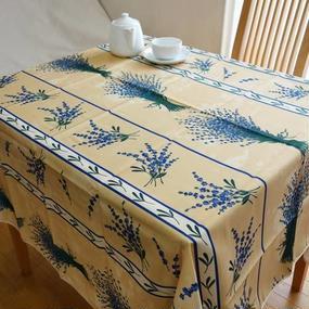 pv030-150         プロヴァンス テーブルクロス 正方形150×150(ラベンダークリーム)