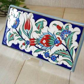 tile-a9 ★トルコ手描きのタイル(トルコの国花チューリップのデザイン)