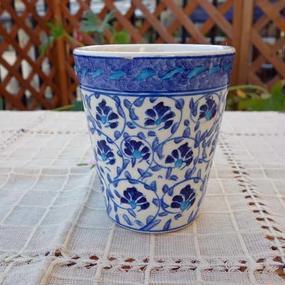 cup-29  手描きのトルコ・キュタフヤ陶器カップ(カーネーション)
