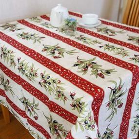 pv001-150        プロヴァンス テーブルクロス 正方形150×150(幸せのシンボルのセミとオリーブ)