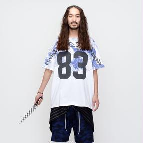 elephant TRIBAL fabrics /   ナンバリングビッグT / 海