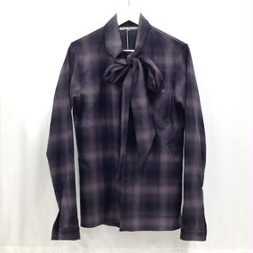 LUCIOLE_JEAN PIERRE BOW TIE SHIRTS (BLACK CHECK)