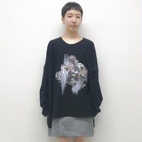 BALMUNG / プリントビッグT / 長袖 / 黒 / 雪華輪