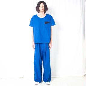 NICK NEEDLES / COTTON LINEN WIDE PANTS / BLUE