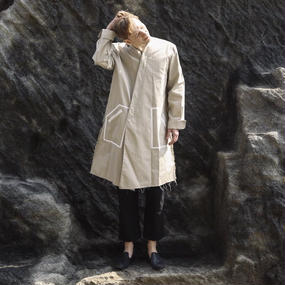 KONYA / ノーカラートレンチコート beige