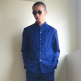 KONYA / テーラードシャツ blue