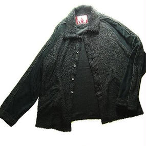 elephant TRIBAL fabrics Pile Ska Shirts(Black)