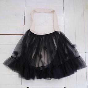 nono /フラワーパニエバッグ black