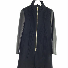 Grapeman Melton leather coat