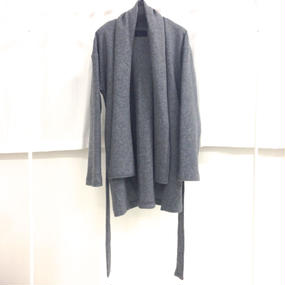 you ozeki gray knit coat