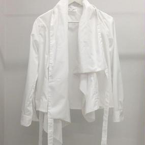 HIOKI TAKAYA Asymmetry shirt white