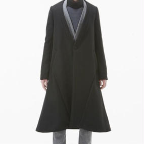NICK NEEDLES LONG COAT BLACK
