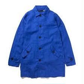 430 L/S LONG SHIRTS COAT(Color : BLU Size : 2)