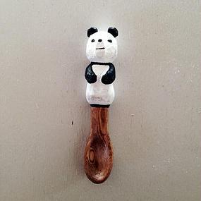 木彫りのパンダスプーン02
