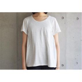 【FilMelange】ANNIE ポケットTシャツ / ホワイトベージュ