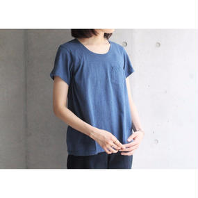 【FilMelange】ANNIE ポケットTシャツ / デニムブルー