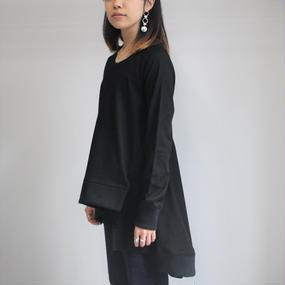 【Y.M.walts】サイドドレープトップス / ブラック