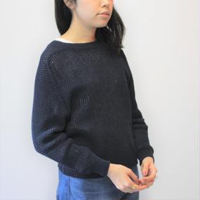 【EN ensorcivet】タックステッチクルーネックセーター
